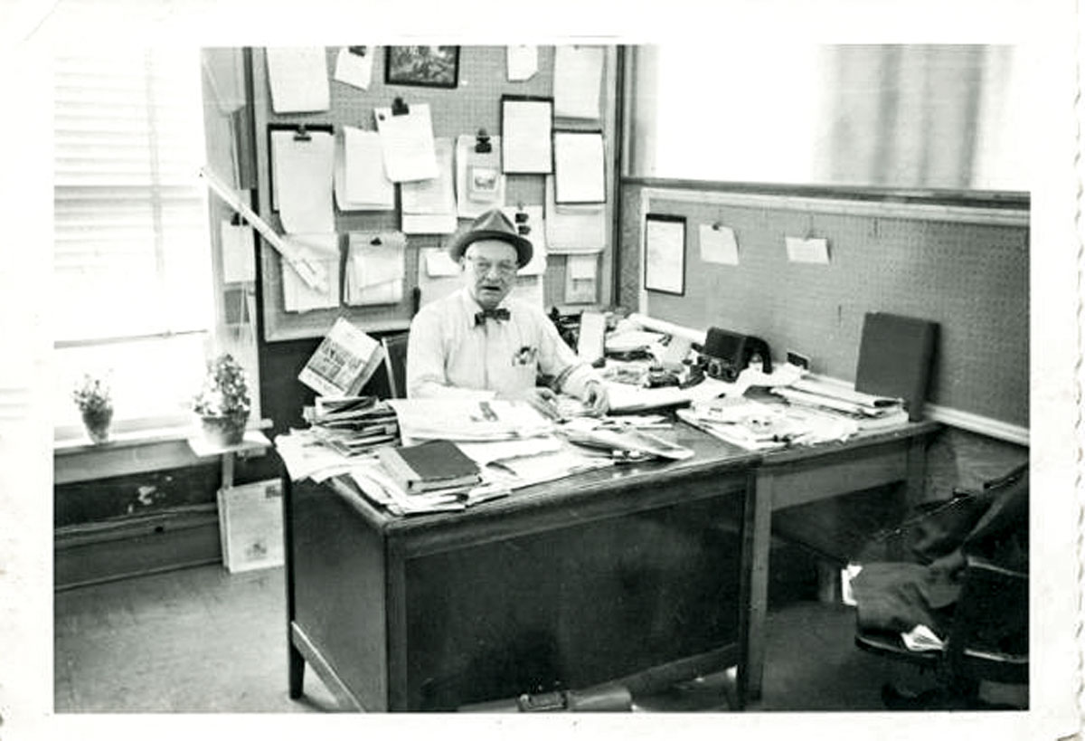 Wm. T. Spaeder cluttered desk image