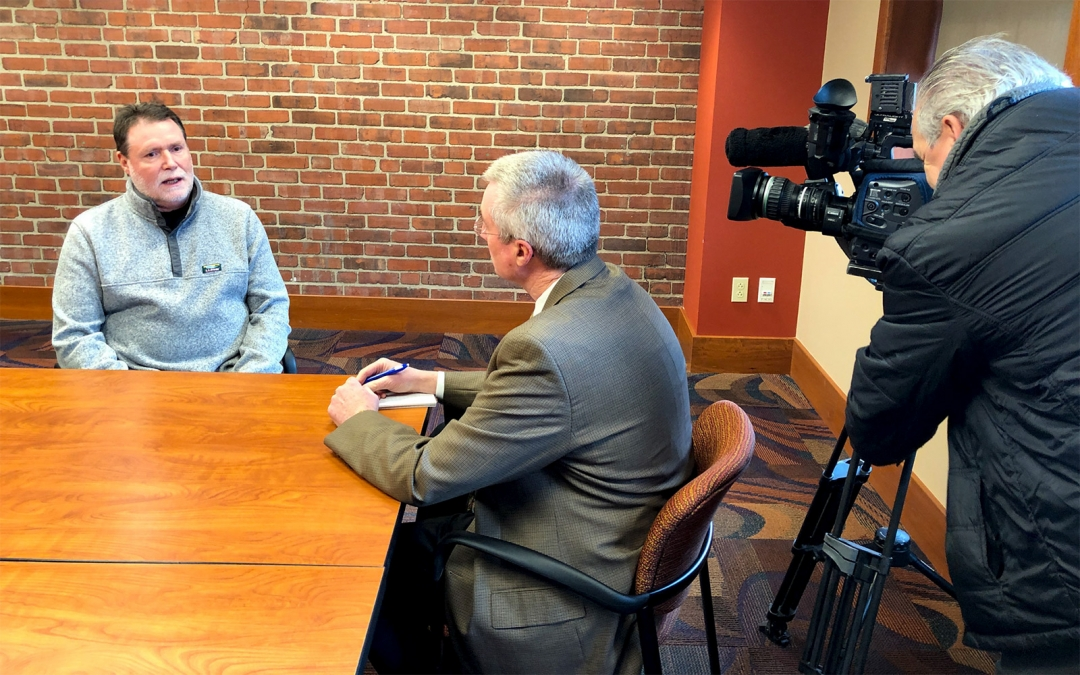 Jay Spaeder interviewed by Paul Wagner from WICU Channel 12