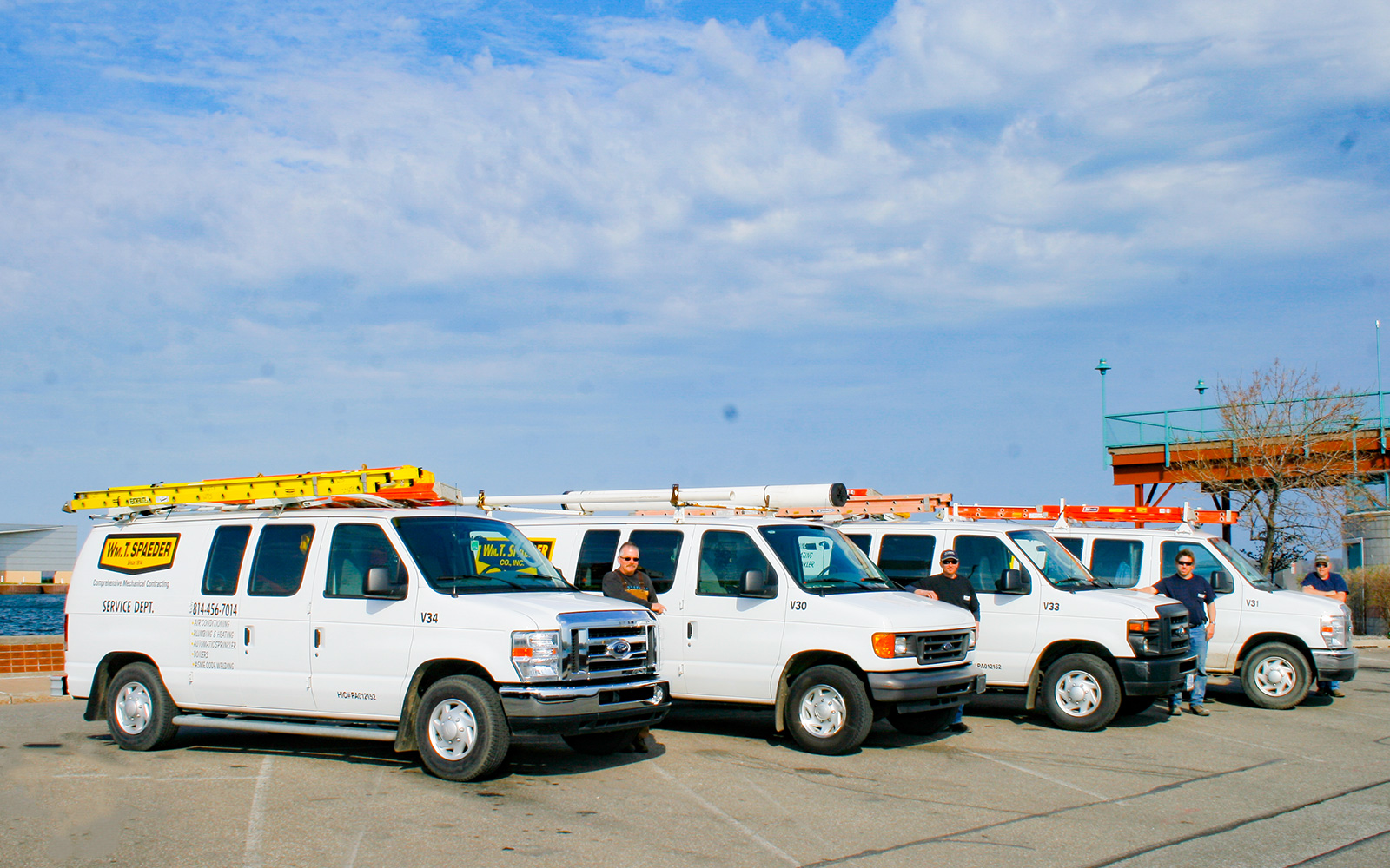 24-7 Service & Repair - The Vans are lined up!