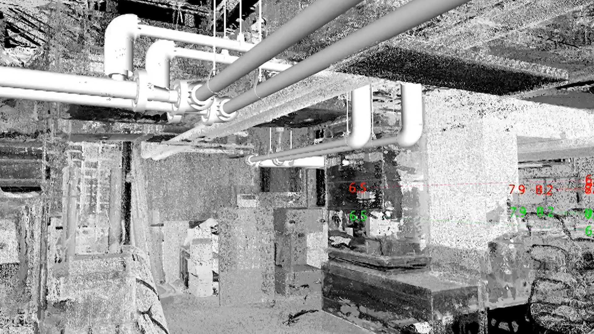 Pipe modeling in point cloud