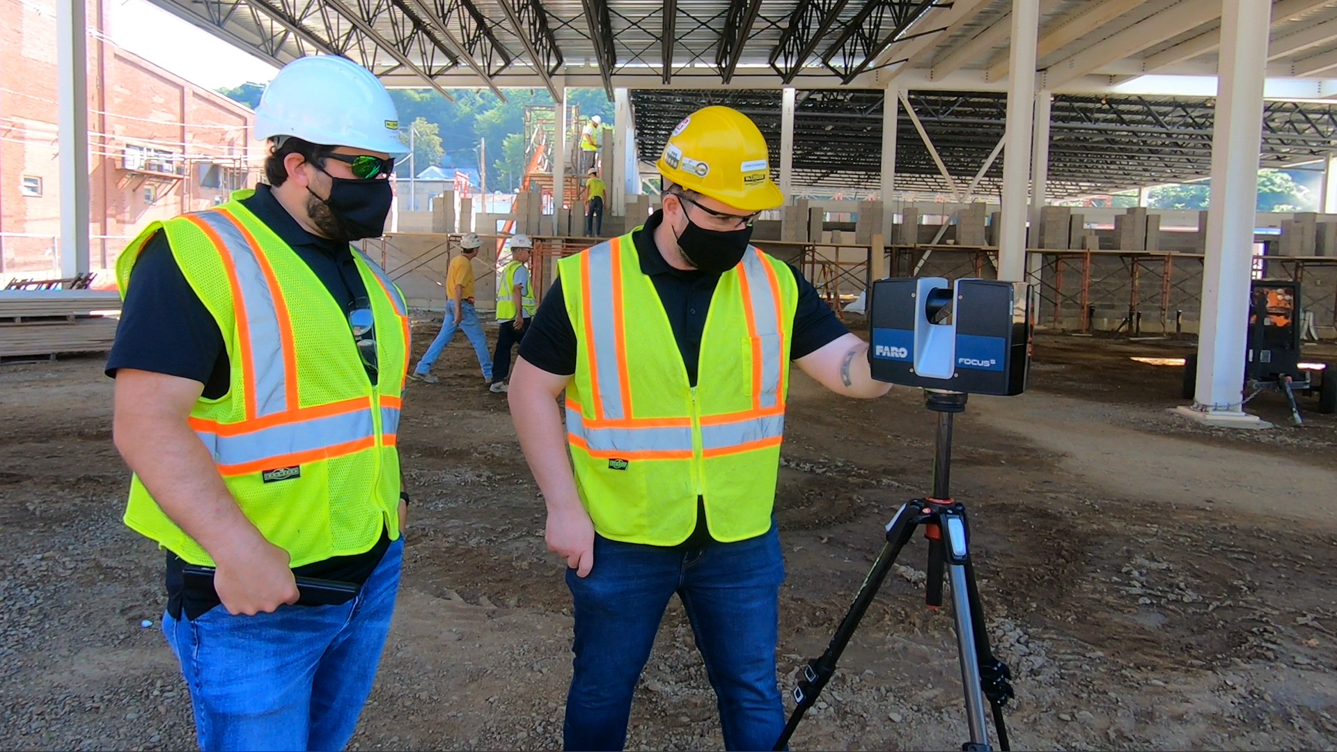 Focus Faro Scanning on job site